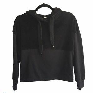 NOISY MAY Cropped Pullover Hoodie Black XS
